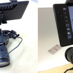 一眼レフカメラのアクセサリーシューに7インチタブレット( DSLR Controller )を装着