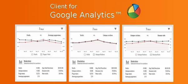 google analysticsの便利なchromeのアドオン Client for Google Analytics