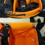 amazon の一眼レフカメラ用スリングバッグが2500円ぐらいで安くて便利